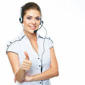 Opérateur centre d'appel de femme — Photo