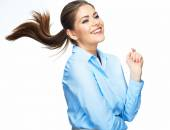 Businesswoman with positive emotion — Stock Photo