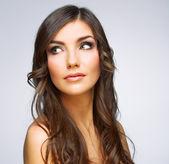 Woman with  luxurious hairdo — Stockfoto