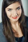Lindo rosto de mulher — Fotografia Stock
