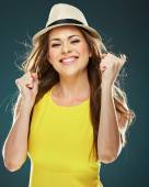 Happy woman posing — Stock Photo
