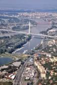 Belgrade - Ada Ciganlija New Bridge — Stock Photo