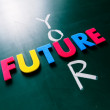 Your future concept on blackboard — Stock Photo #64550915