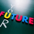 Your future concept on blackboard — Stock Photo #67037833