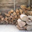Pile of wooden log for setting fire — Stock Photo #68352143