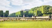 Territory of park of the Luxemburg palace — Stock Photo