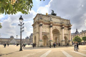 Paris. Small Triumphal arch is in the Tuileries Gardens — Stock Photo