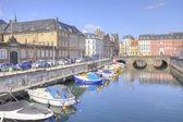 Canal in city Copenhagen — Stock Photo