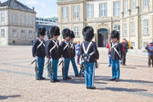 Denmark. Copenhagen. Changing of the guard of the Amalienborg Pa — Stock Photo