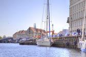 Kanaler är city Köpenhamn — Stockfoto