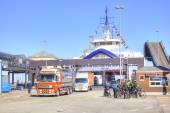 Denmark. Unloading the ferry  — Stock Photo
