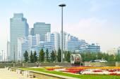 Astana. Centre de la ville. boulevard de nurzhol — Photo