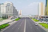 Astana. Center of city. Nurzhol Boulevard — Stock Photo