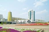 Astana. Complex of governmental building — Stock Photo