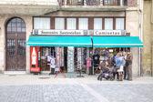 San-sebastian. winkel van souvenirs — Stockfoto