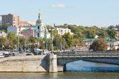 Jauza River inflow in the Moskva River — Stockfoto