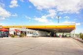 Europe. Filling station — Stock Photo