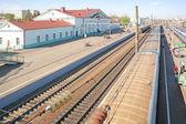 Trem estação vyazma — Foto Stock
