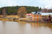 Finland. At home on the riverside Porvoo  — Stock Photo