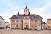 Finland. City Porvoo. Town hall — Stock Photo