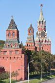 Moscow. Kremlin. Konstantino-Eleninskaya, Nabatnaya, Tsarskaya a — Stockfoto