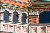 Temple of Vasiliy Beatific. Windows on a gallery  — Foto de Stock