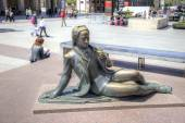 Saragossa. Sculpture of Chevalier  — Stock Photo