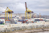 Port of city Saint Petersburg — Stock Photo