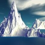 3D rendered fantasy alien planet. Iceberg — Stock Photo #62588841
