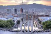 Barcelona. Singing fountains of Montjuic  — Stockfoto