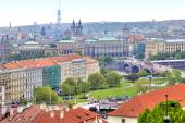 Panorama of the city of Prague — Стоковое фото