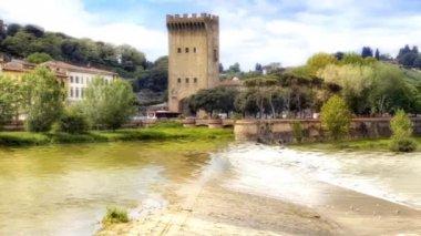 Coast the rivers Arno — Stock Video