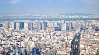 Panorama of city Paris — Stock Video