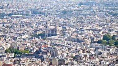 Panorama da cidade de paris — Vídeo stock