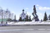 Kazan. Square on 1 May. Monument Musa Jalil — Fotografia Stock