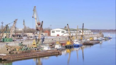 Nizhniy Novgorod. River port — Stock Video