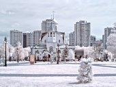 Reutov. Church of the Kazan Mother of God — 图库照片