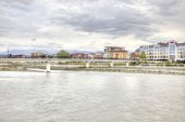 Sochi. Adler. Mzymta River — Stock Photo
