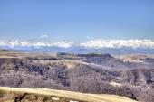 Panorama von der größeren Kaukasus-Gebirges — Stockfoto