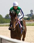 Prima corsa di cavalli. — Foto Stock