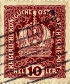 Vintage Austrian Stamps — Stock Photo