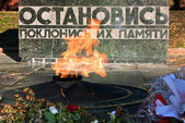 Burning eternal  flame in Pyatigorsk. — Stock Photo