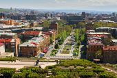 View of Yerevan from Cascade. — Stock Photo