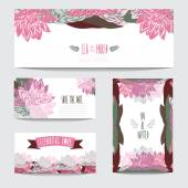 Floral cards set — Stock Vector