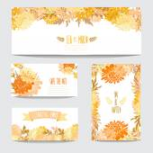 Floral cards set — Vecteur