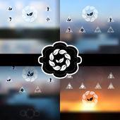 Blurred landscape backgrounds set — Stock Vector
