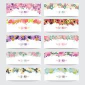 花卉卡套 — 图库矢量图片