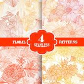 Seamless patterns set — 图库矢量图片