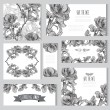 Floral cards set — Stock Vector #54390919