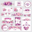 Floral cards set — Stock Vector #54390921